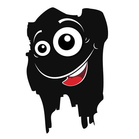 Cartoon expression monster Vector