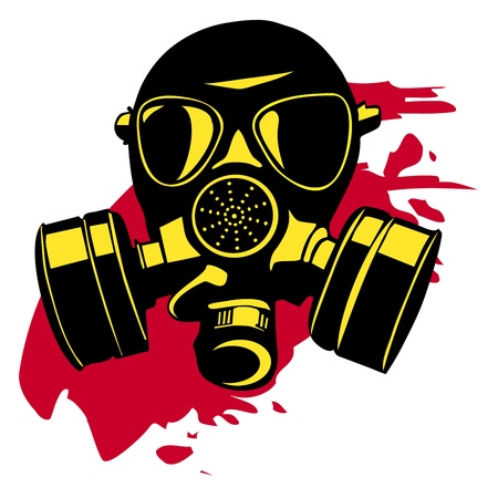 biological warfare: Gas mask Illustration