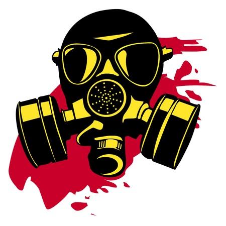 terrorists: Maschera antigas Vettoriali