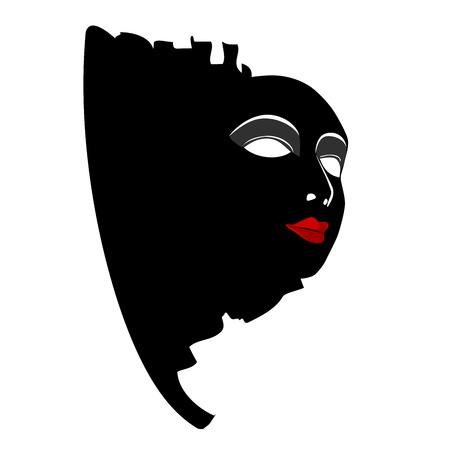 Maskers met het theater begrip Stock Illustratie
