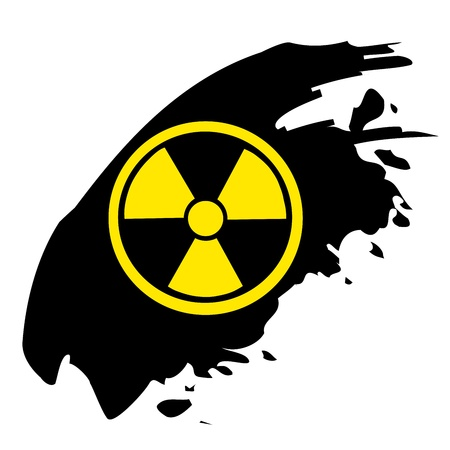 Sign of radiation on black Stock Vector - 20727752