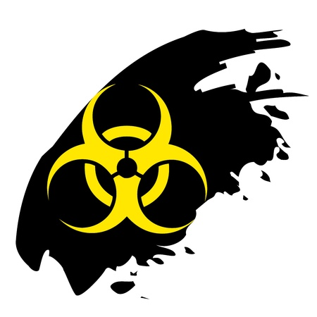 Biohazard sign. Yellow and black bio hazard Stock Vector - 20921261