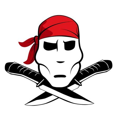 Abstract pirate symbol with bandana Vector