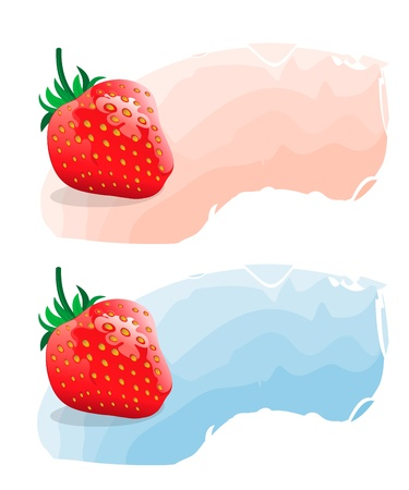 Strawberry realistic vector illustration Vector