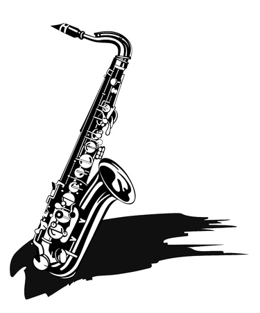 Saxophone  Musical background Vector
