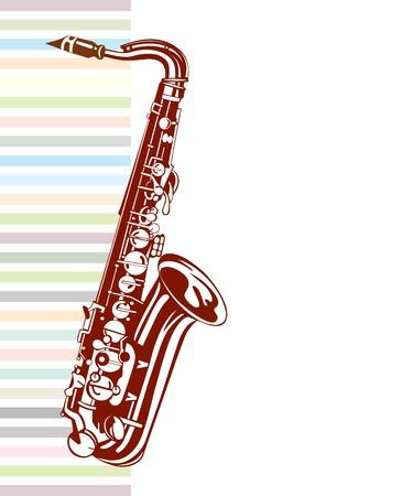 tenor: Saxophone design  Musical background