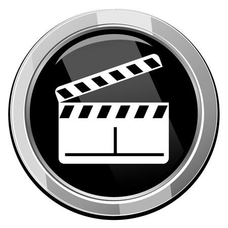 Vector glossy klepel boards web icon design element. Stockfoto - 21297069