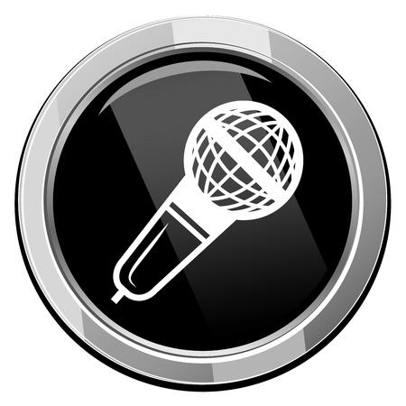 Microfoon Vector pictogram geïsoleerd Stockfoto - 21297070