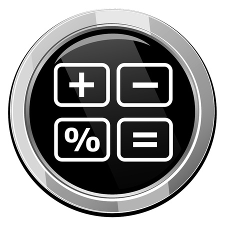Calculator cash register- Vector icon isolated Vector