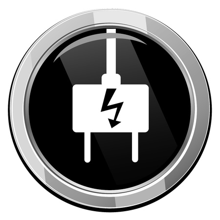adapter: Electric plug - Vector icon isolated Illustration