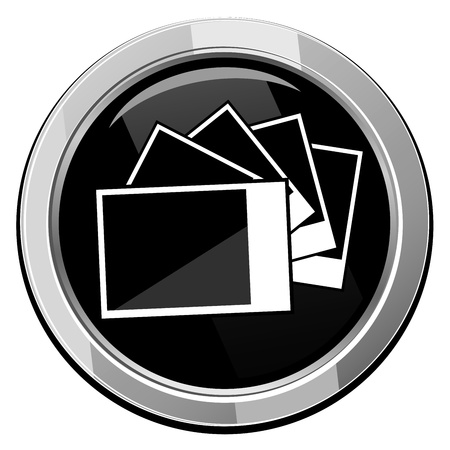 Photographs pictures - Vector icon isolated Vector