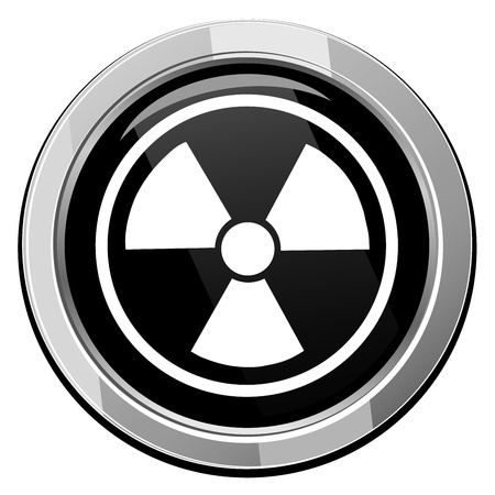 toxic barrels: Radioactive icon vector