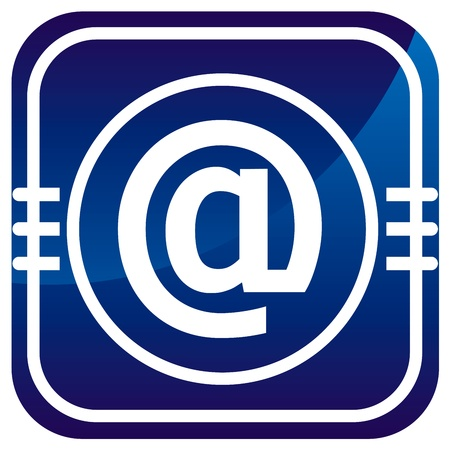 Email symbol - Vector icon isolated Stock Vector - 21297095