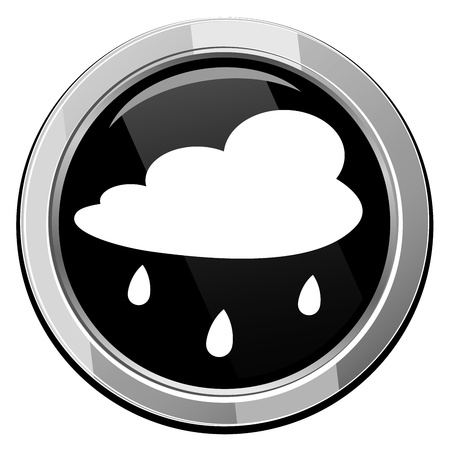 gush: Rain cloud - Vector icon isolated