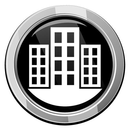 urban planning: City vector icon Illustration