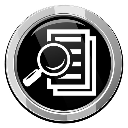 Magnifying glass - Search the document.  Stock Vector - 21535194