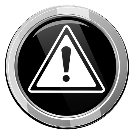 Warning black icon Stock Vector - 21535231