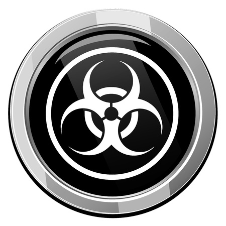 biological warfare: Warning symbol biohazard vector