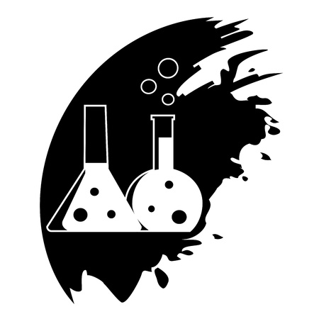 reagent: Flask with chemical reagent - Vector icon isolated