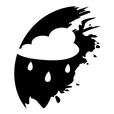 drench: Nube de lluvia - icono del vector aislado