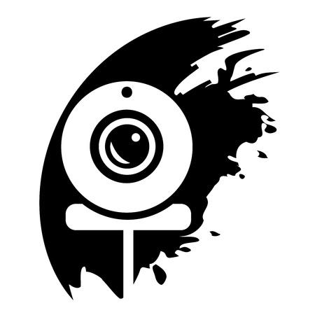 webcam: Webcam - Vector illustration isolated