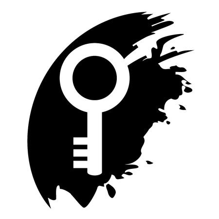 Key - Vector icon isolated Vector
