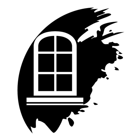 pane: Window frame - Vector black icon isolated