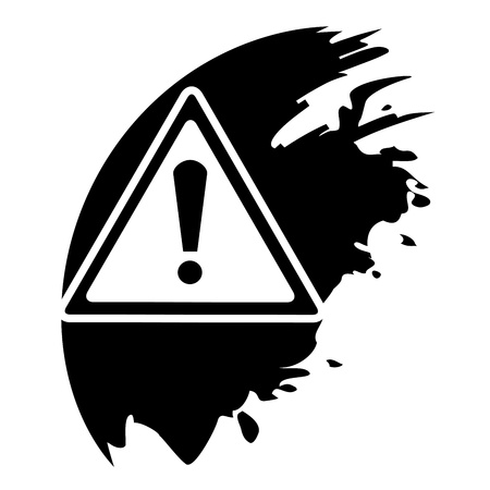 Warning black icon Vector