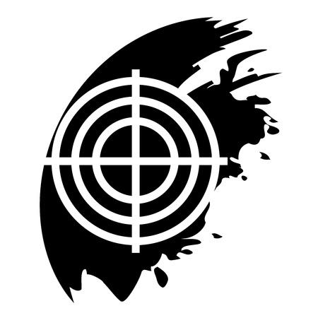 Target black icon Stock Vector - 21823861