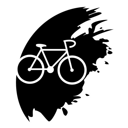 Bicycle black icon Vector