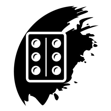 Pills, medication vector black icon Stock Vector - 21823855