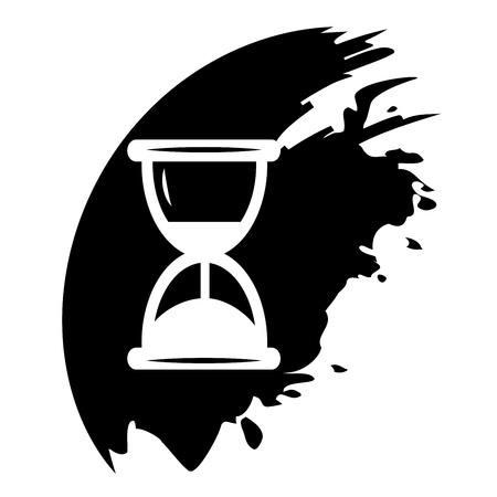 usage: Hourglass time icon isolated