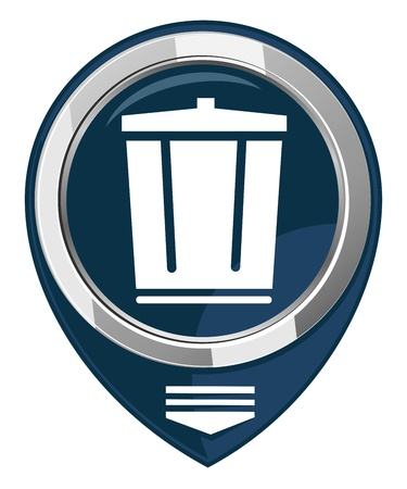 Vector trash can map pointer Stock Vector - 21927539