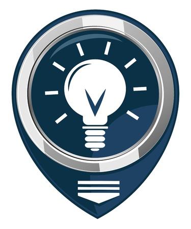 Light bulb map pointer Stock Vector - 21944016