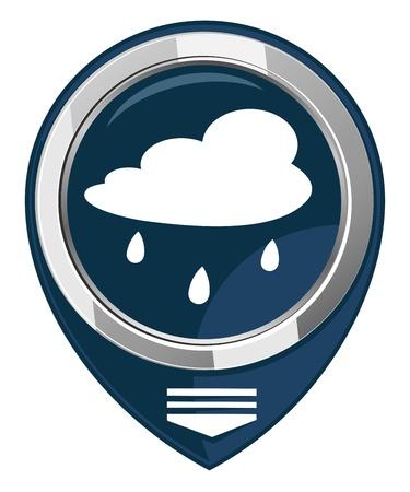drench: Nube de lluvia - Mapa del puntero Vectores