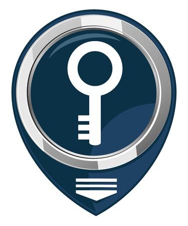 Key - map pointer Ilustração