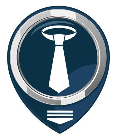 dresscode: Necktie - map pointer isolated