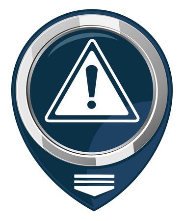 Warning map pointer Stock Vector - 22228798