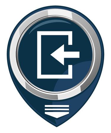 loging: Enter- map pointer