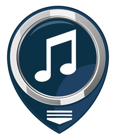 pc tune: Music map pointer Illustration