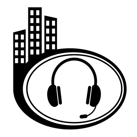Vector headset web icon design element. Vector