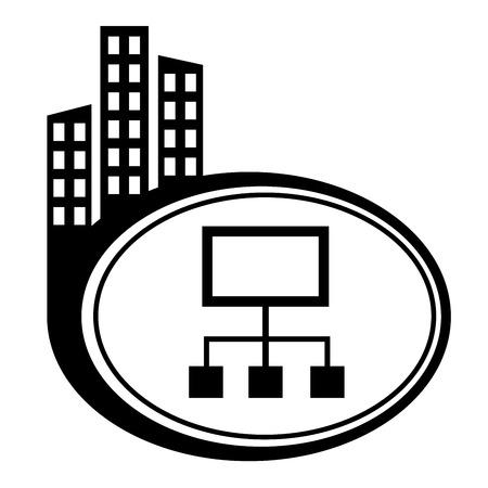 city icon: Network city icon