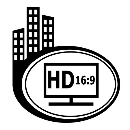 city icon: HD display black city icon.