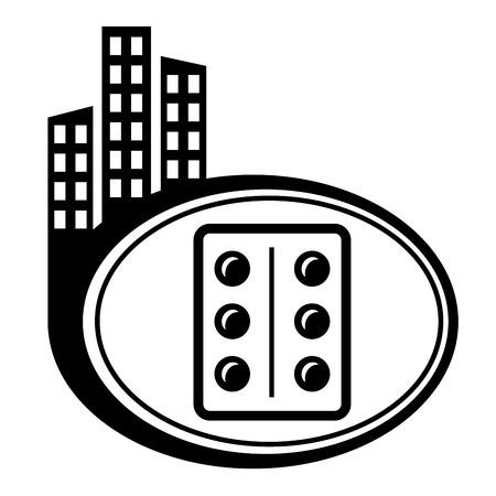 city icon: Pills, medication vector city icon