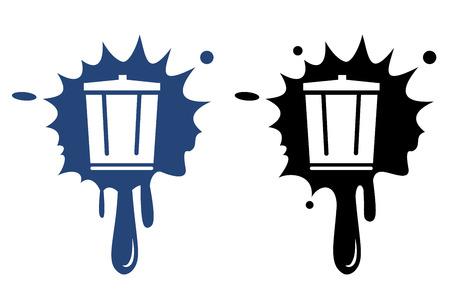 dispose: Vector trash can icon