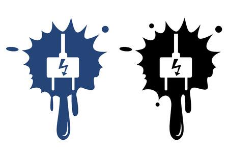 unplugged: Enchufe el�ctrico - icono del vector aislado