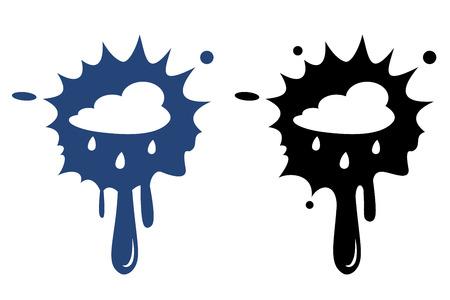 drench: Nube de lluvia - vector icono aislado Vectores