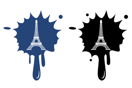 Eiffel Tower in Paris, France - black icon isolated Stock Vector - 22374666