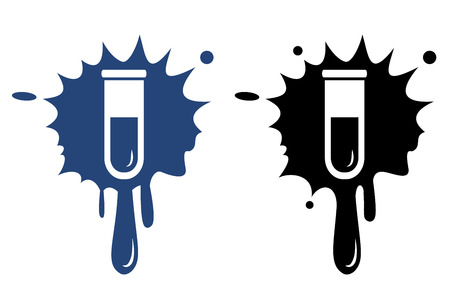 serology: Test tube icon. Biochemistry and microbiology equipment.
