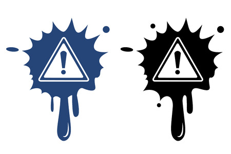 Warning blue and black icon Vector